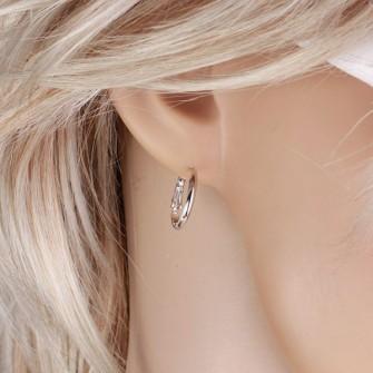Boucles d'oreilles anneaux discrète 01A2577