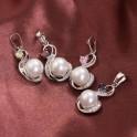 Pendentif avec perle et pierre Rose 01C3248