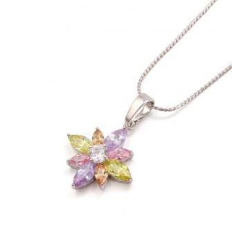 Pendentif Fleur Multicolore 01C3253