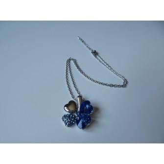 Collier trèfle Bleu 01G5240