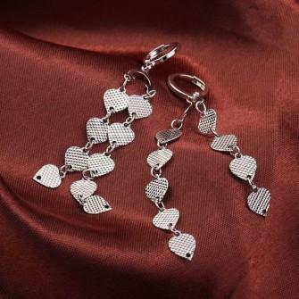 Boucle d'oreilles Coeur plaqué rhodium 01A2581