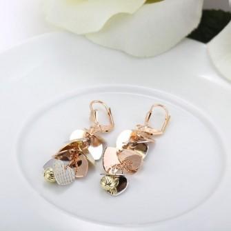 Boucles d'oreilles pétales Multicolore 01A2578