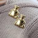 Boucles d'oreilles petit ours pour enfant plaqué or 14K 585/000 01A2579
