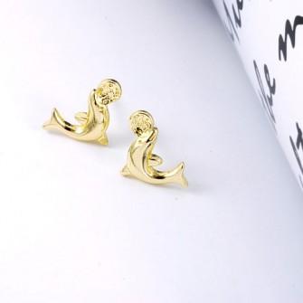 Boucles d'oreilles Dauphins Plaqué Or 01A2558