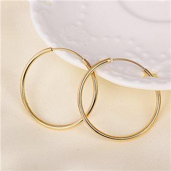 Boucles d'oreilles anneaux plaqué Or 01A2611