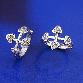 Boucles d'oreilles croix 01A2599