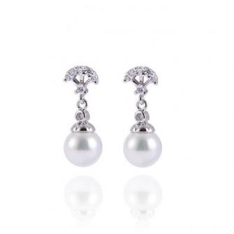 Boucles d'oreilles pendante avec perle 01A2559
