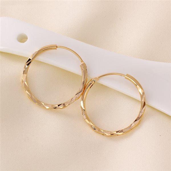boucles d 39 oreilles anneaux scult plaqu or 01a2600 jl. Black Bedroom Furniture Sets. Home Design Ideas