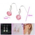 Boucles d'oreilles pendante avec pierre de cristal 01A2560