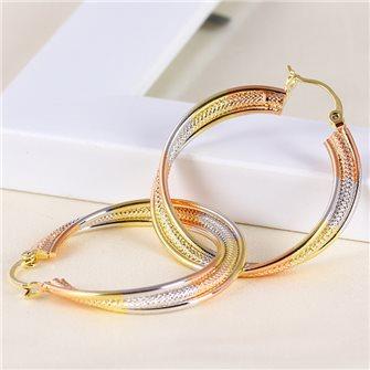 Boucles d'oreilles anneaux multicolore 01A2607