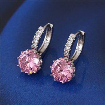 Boucles d'oreilles avec pierre de Zirconium Rose 01A2608