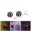 Boucles d'oreilles perle de zirconium 01A2572